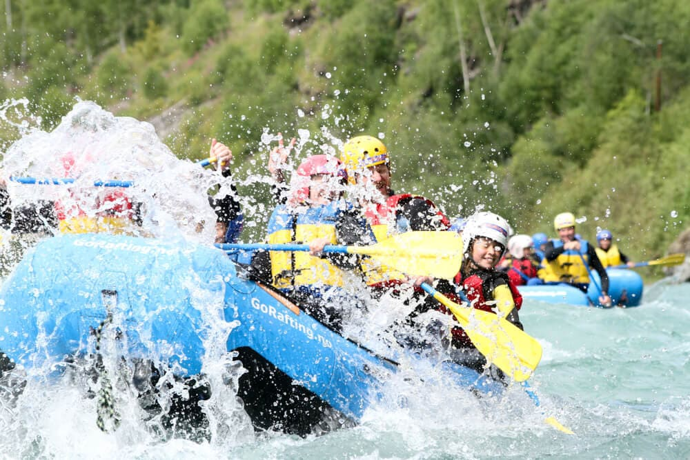 Rafting in Norwegen für Familien