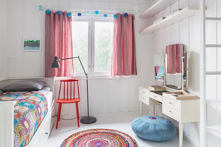 Kinderzimmer Ferienhaus an der norwegischen Küste bei Larvik