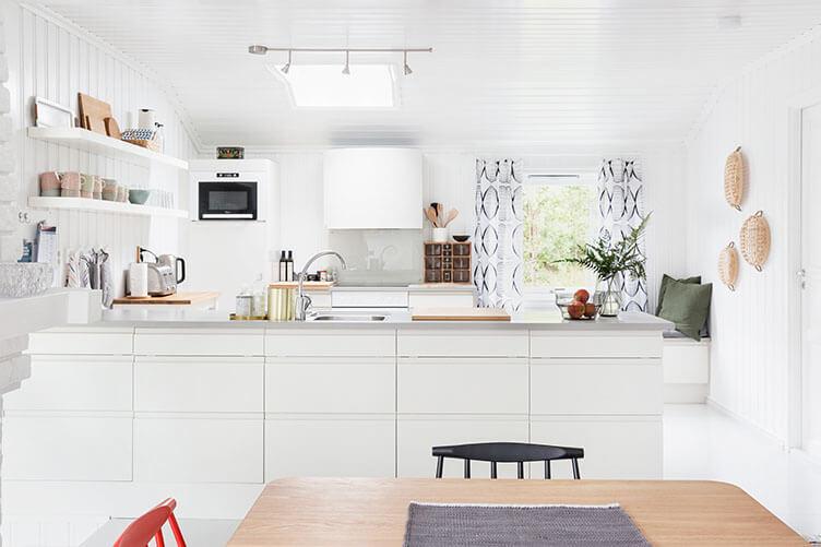 Küche Ferienhaus an der norwegischen Küste bei Larvik