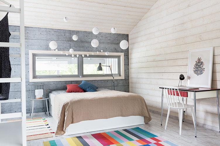 Schlafzimmer im Ferienhaus an der norwegischen Küste bei Larvik