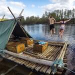 Aktivurlaub in Schweden auf dem Floß