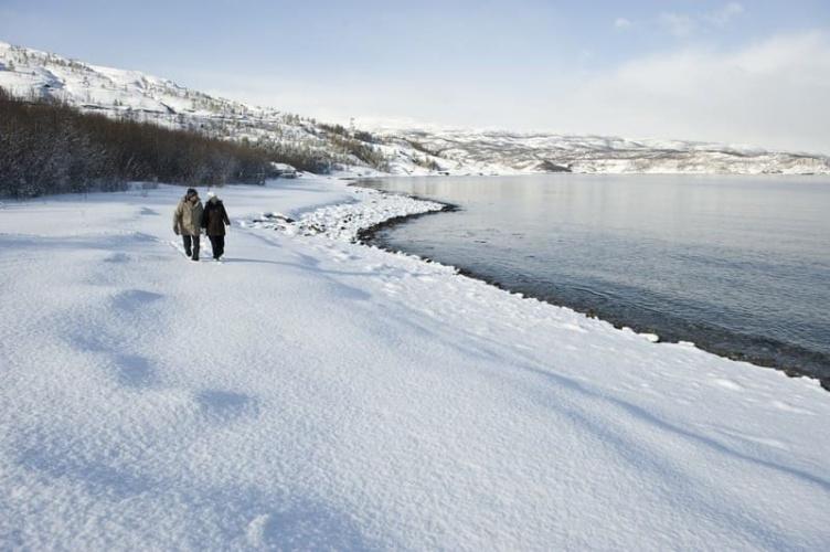 Familienurlaub in Nordnorwegen - Nordlichter und Huskytour