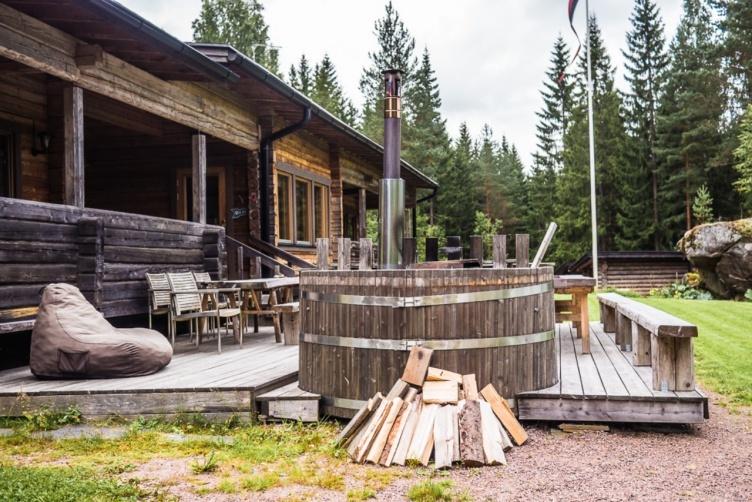 Großes Ferienhaus Südfinnland mit Hot Pot und Sauna