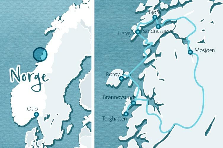 Inselhuepfen mit Kanu und Rad in Norwegen