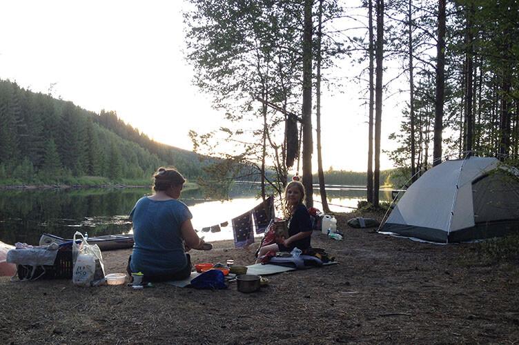 Kanutour in Schweden