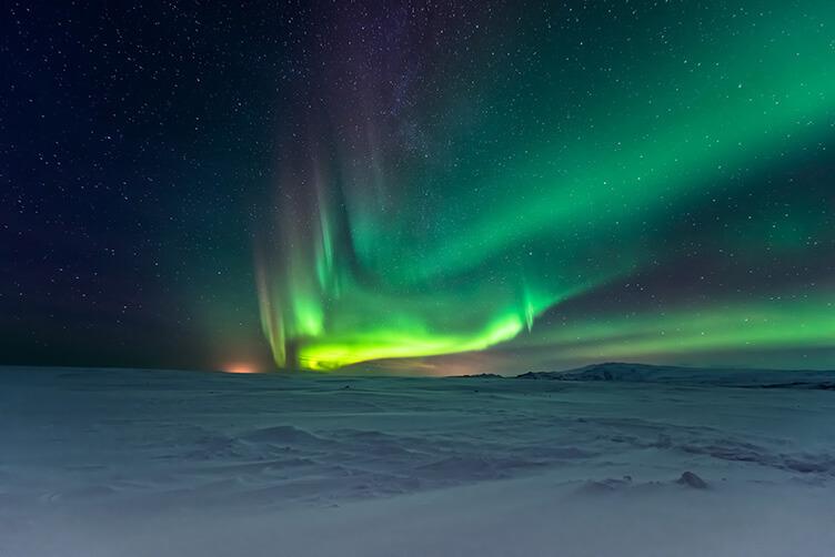 Lappland unter Nordlichtern