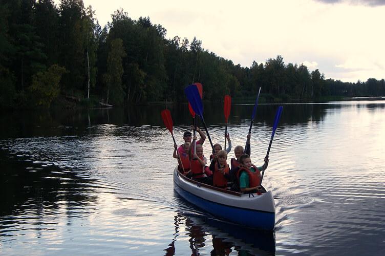 Kanu auf der Seenplatte