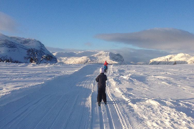 Familienurlaub im Winter in der Bergregion Valdres