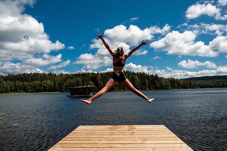 Familienwoche am See in Schweden