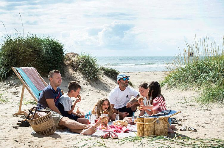 Familienradreise Kattegattleden Westküste Schweden Sandstrand