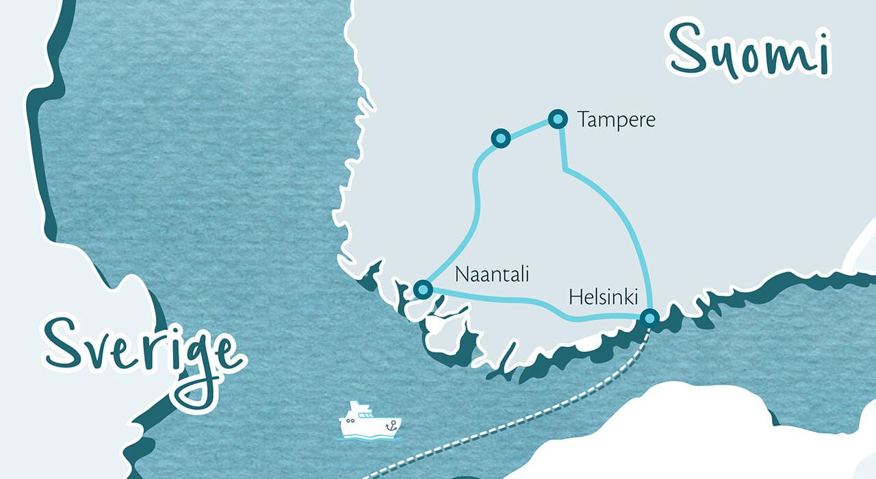 Familienreise zu den Mumins in Südwestfinnland