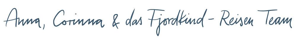 Unterschrift Fjordkind-Reisen