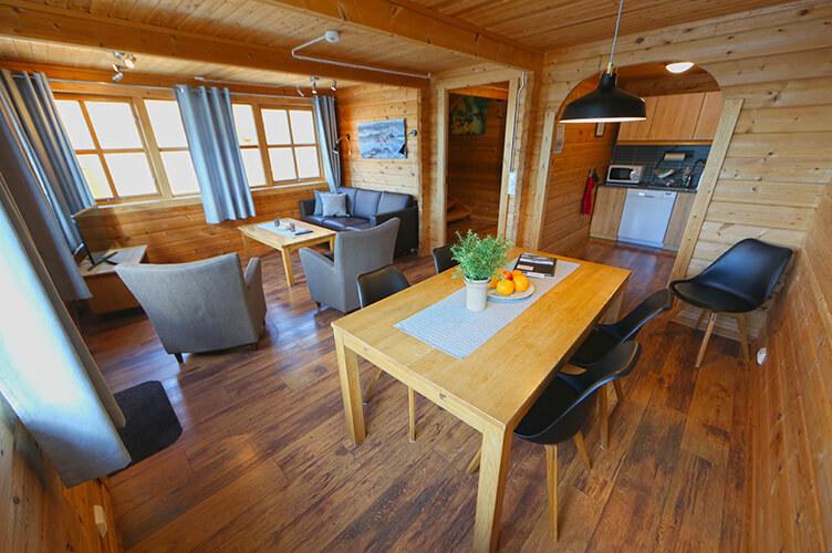 Gemütliches Wohnzimmer in Fischerhütte